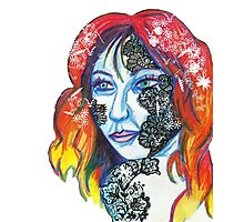 Lace Face Photographic Print