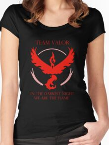 Team Valor - In The Darkest Night, We Are The Flame Women's Fitted Scoop T-Shirt