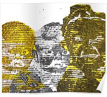 Corrugated Cardboard Portraits  Poster