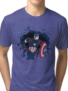 Patriotic Paint Splatters Tri-blend T-Shirt