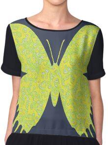 #DeepDream Lemon Lime color Butterfly Chiffon Top
