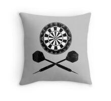 Vintage Darts Throw Pillow