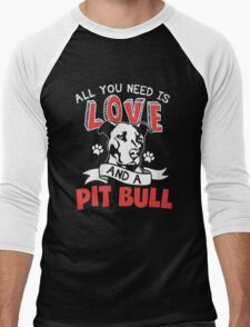 LOVE PIT BULL Men's Baseball ¾ T-Shirt