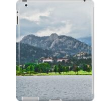 Stanley Hotel from Lake Estes  iPad Case/Skin
