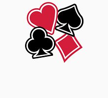 Poker heart spade diamond club Unisex T-Shirt