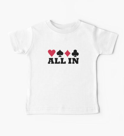 Poker all in Baby Tee