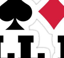 Poker all in Sticker