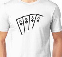 Poker Cards Aces Unisex T-Shirt