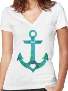 Christian Anchor Women's Fitted V-Neck T-Shirt
