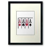 Poker cards aces Framed Print
