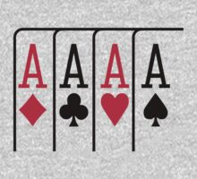 Poker cards aces One Piece - Short Sleeve
