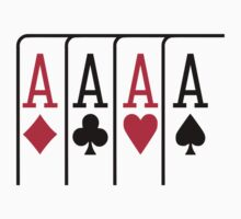Poker cards aces by Designzz