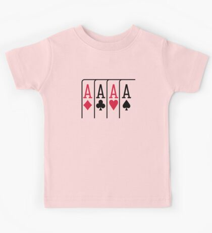 Poker cards aces Kids Tee