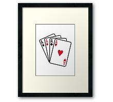 Poker aces gambling Framed Print