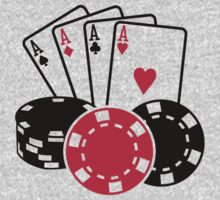 Poker cards chips Baby Tee