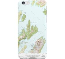 USGS TOPO Map Alaska AK Seward A-3 358865 2000 63360 iPhone Case/Skin