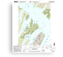 USGS TOPO Map Alaska AK Seward A-3 358865 2000 63360 Canvas Print