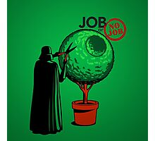 Job Or No Job - Darth Vader Space Planet Photographic Print