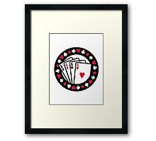 Casino poker aces Framed Print
