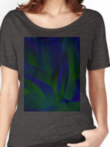 Succulent Abstract  in Blue and Green #215 Women's Relaxed Fit T-Shirt