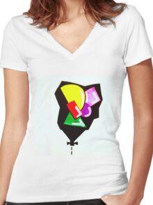 Balloon  Women's Fitted V-Neck T-Shirt