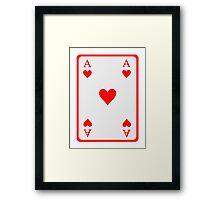 Poker ace heart Framed Print
