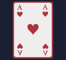 Poker ace heart One Piece - Short Sleeve