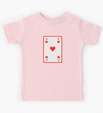 Poker ace heart Kids Tee