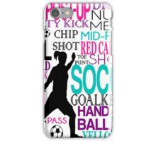 Words of football 578 iPhone Case/Skin