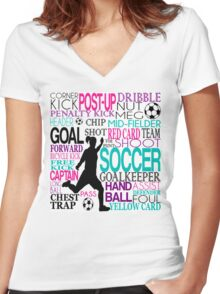 Words of football Women's Fitted V-Neck T-Shirt