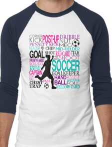Words of football 578 Men's Baseball ¾ T-Shirt