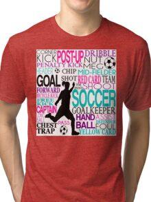 Words of football 578 Tri-blend T-Shirt