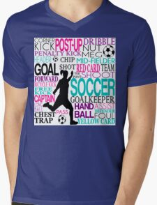 Words of football 578 Mens V-Neck T-Shirt