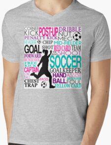 Words of football 578 Mens V-Neck T-Shirt