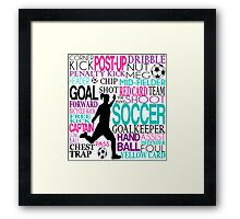 Words of football 578 Framed Print