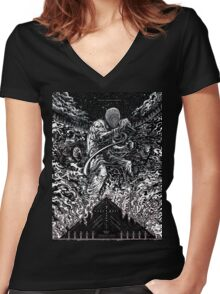 black hippy Women's Fitted V-Neck T-Shirt