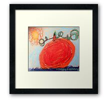Sunny Pumpkin Patch Framed Print