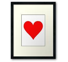 Poker red heart Framed Print