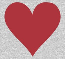 Poker red heart Kids Tee