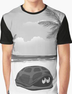 Tortoise on a beach Graphic T-Shirt
