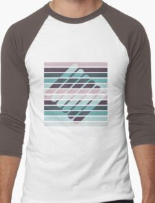 Fusion of shapes and color harmony Men's Baseball ¾ T-Shirt
