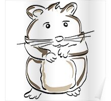 hamster rodent drawing mammal nature comic funny Poster