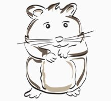 hamster rodent drawing mammal nature comic funny Kids Tee
