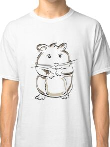 hamster rodent drawing mammal nature comic funny Classic T-Shirt