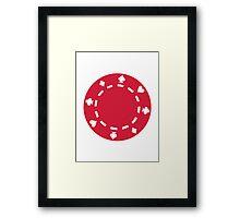 Red Poker chips Framed Print
