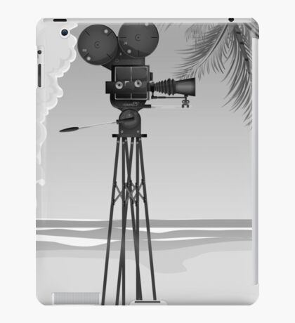Old Movie time vintage film camera iPad Case/Skin