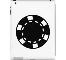Black poker chips iPad Case/Skin