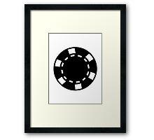 Casino poker chips Framed Print