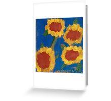 Nadia's Sunny Summer Flowers Greeting Card