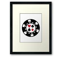 Poker chips casino Framed Print